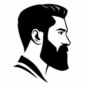 Samolepka Barber holič, samolepky na sklo Barber holič v Brně
