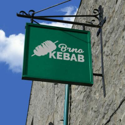 Polepy vyloh, aranžování výloh KEBABu, kebab Brno, tortilla, nalepky, Brno kebab