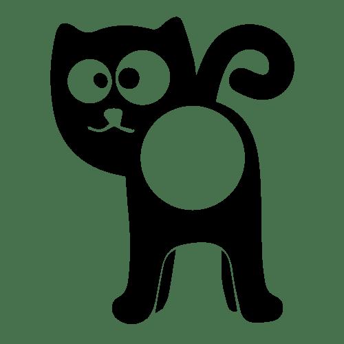 Nálepka na kukátko - kočka - Samolepka, výroba samolepek