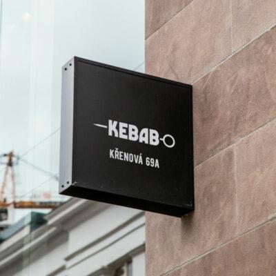 Polepy výloh, aranžování výloh KEBABu, kebab Brno, tortilla, nalepky