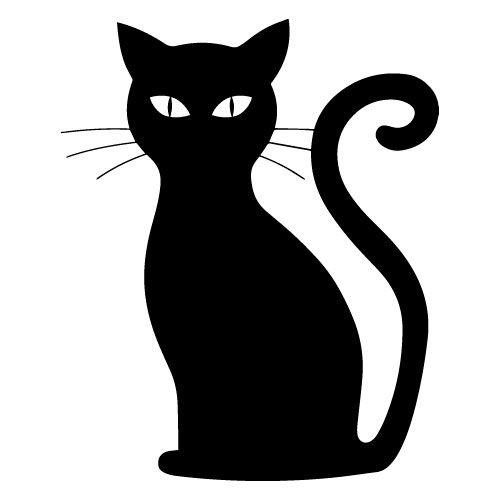 Samolepka Kočka halloween, samolepky na sklo Kočka halloween v Brně