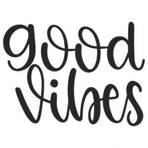 Samolepka Good Vibes v Brne, samolepka na sklo, auto, notebook a zed