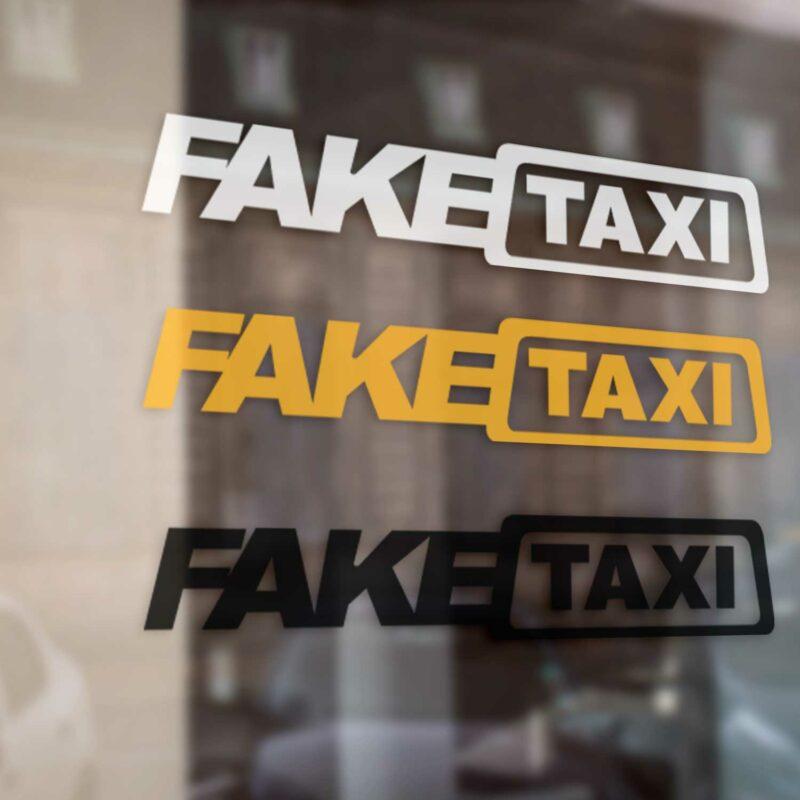Samolepka Fake Taxi na auto