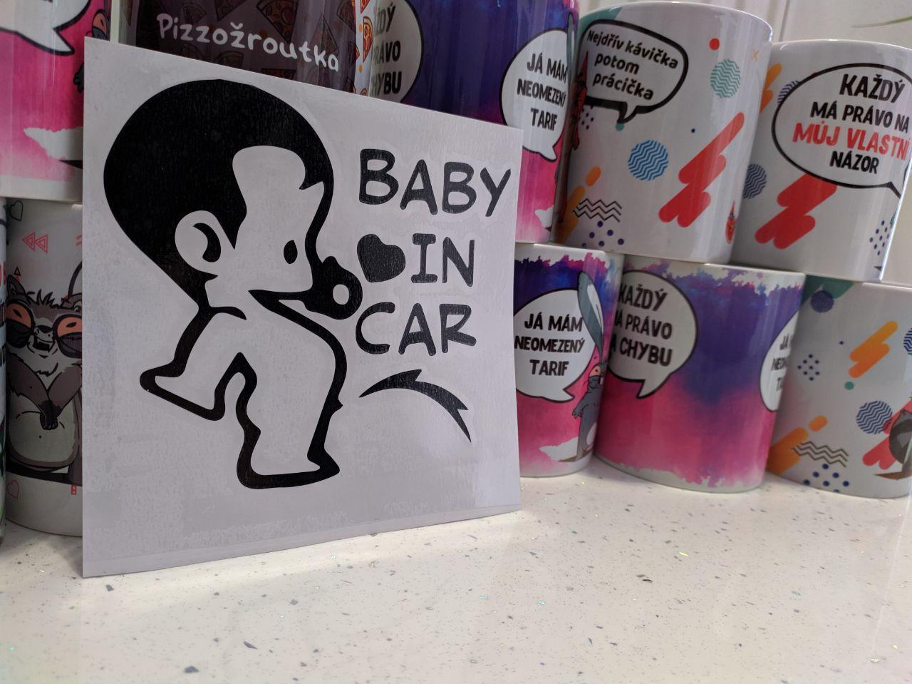 Samolepka Baby In Car na auto