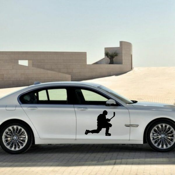 Samolepka Hokejista na auto v Brně, dekorace na automobil, zed', sklo, okno