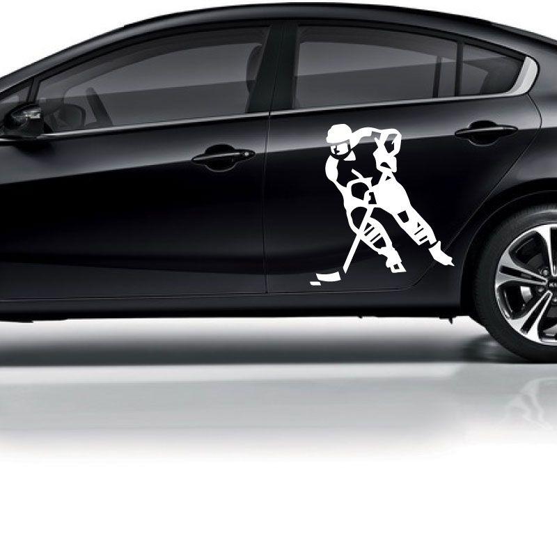 Samolepka Hokejista s pukem na auto v Brně