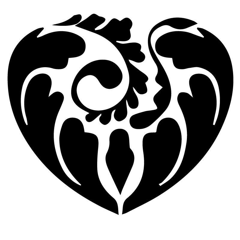 Samolepka Dekorativní srdce na auto, okno, notebook nebo zeď v Brně