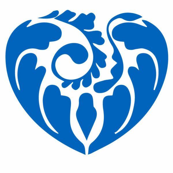 Modra Samolepka Dekorativní srdce na auto, okno, notebook nebo zeď v Brně