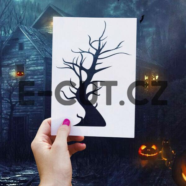 samolepka Dřevo Halloween dle vašeho vlastního výběru Brno