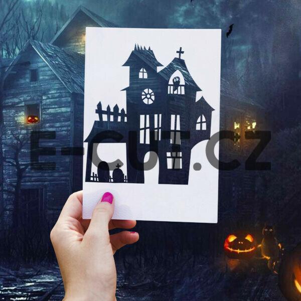 Originální samolepka Strašidelný dům Helloween 2 dle vašeho vlastního výběru Brno