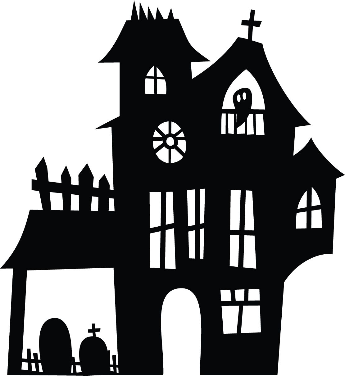 Originální samolepka Strašidelný dům Helloween 2 dle vašeho vlastního výběru Brno na auto zed nebo sklo