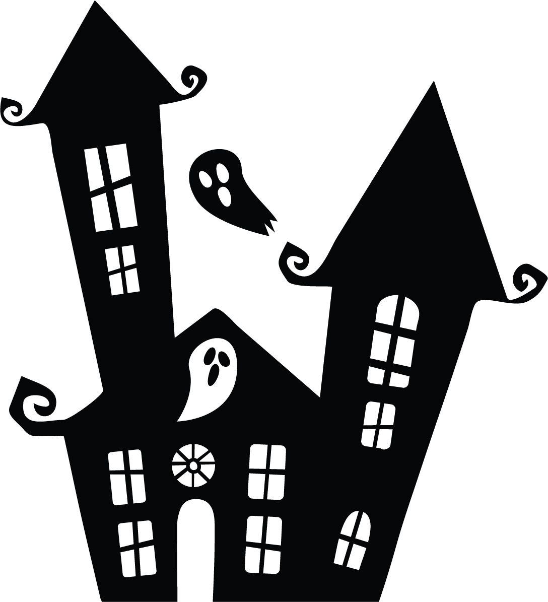 Originální samolepka Helloween Strašidelný dům