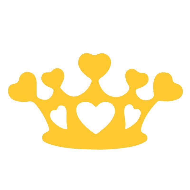 Zluta Originální samolepka Koruna dle vašeho vlastního výběru.