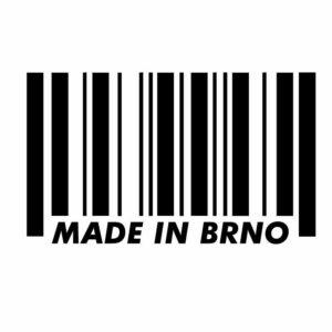 Originální samolepka Made in Brno dle vašeho vlastního výběru.