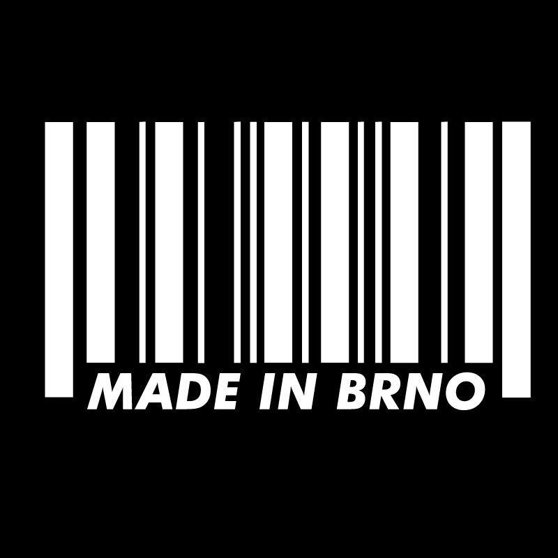 Samolepka Made in Brno Bila dle vašeho vlastního výběru.