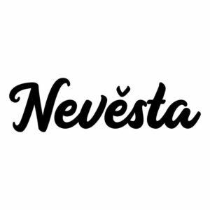 Samolepka Nevěsta na svatební auto v Brně, svatební dekorace na automobil
