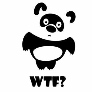 Originální samolepka Pooh WTF dle vašeho vlastního výběru