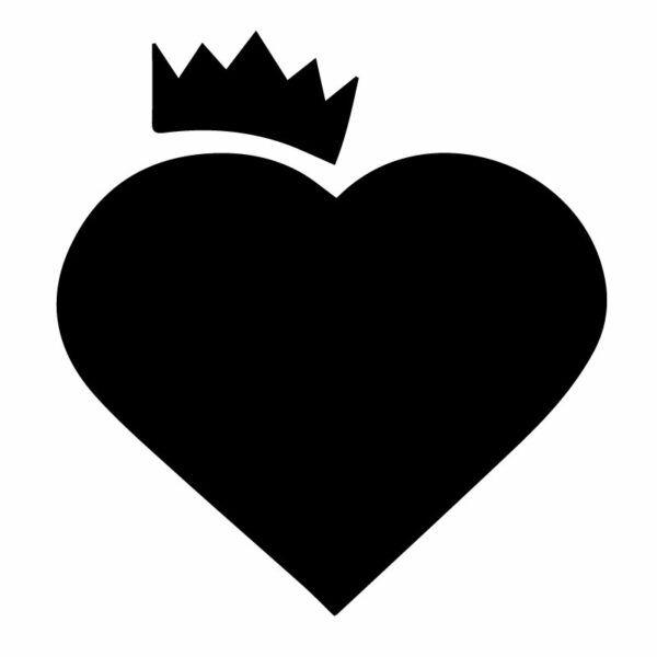 Originální samolepka Srdce s korunou dle vašeho vlastního výběru v Brne