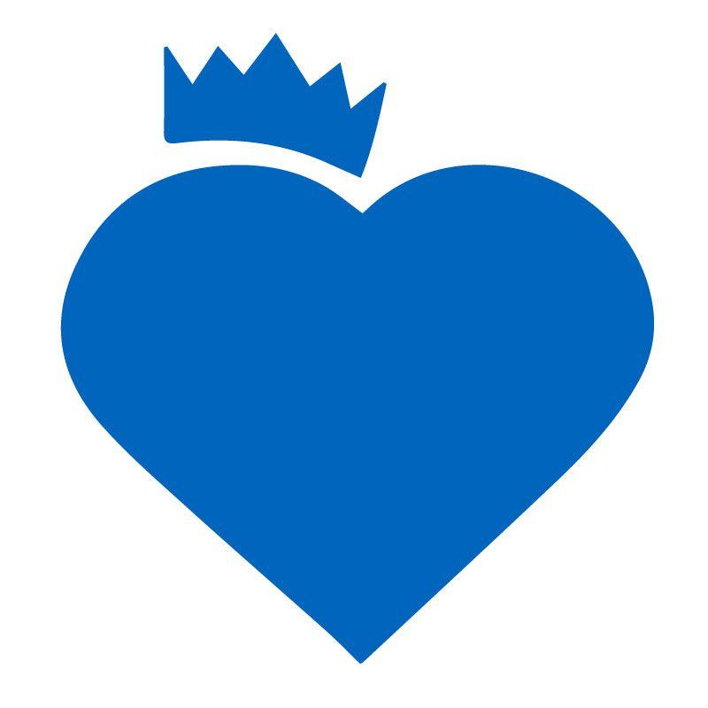 Modra Originální samolepka Srdce s korunou dle vašeho vlastního výběru v Brne