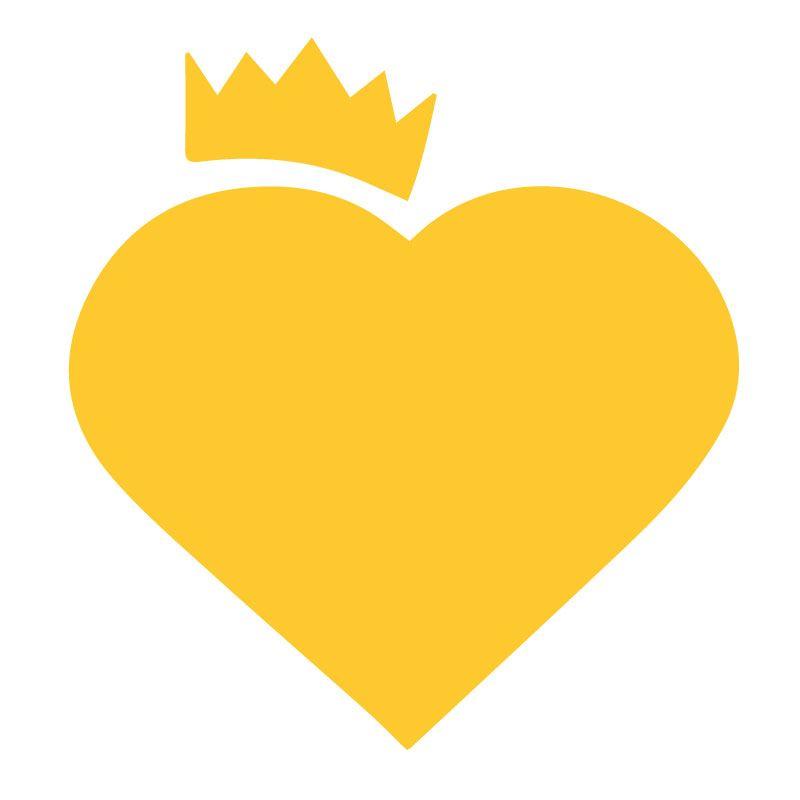 Zluta Originální samolepka Srdce s korunou dle vašeho vlastního výběru v Brne
