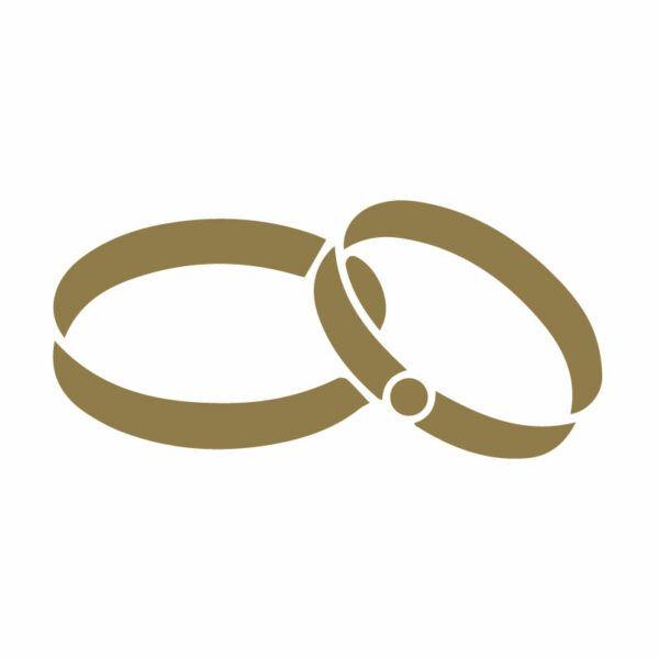 Zlata Samolepka Svatba - prsteny na svatební auto v Brně, svatební dekorace na automobil