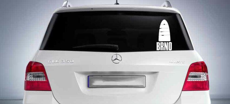 Samolepka na auto Brno - Brnensky orloj