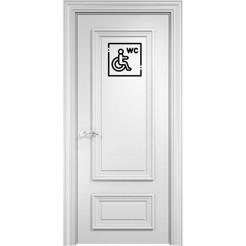 Samolepka WC pro invalidy - handicap v Brně, samolepka na WC