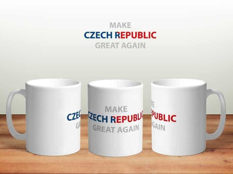 Bílý keramický hrnek Make Czech Republic Great Again v Brně