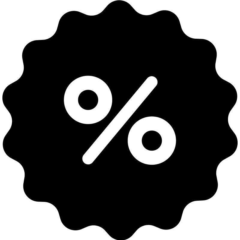 Samolepka Sleva procento na sklo, výlohu v Brně, samolepka na okno, sklo a výlohy