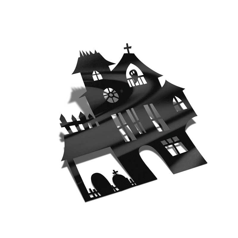 Samolepka Strašidelný dům Halloween 2