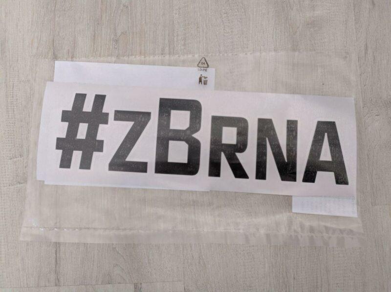Samolepka #zBrna