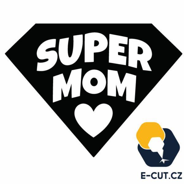 Samolepka na auto Super Mom, okno, notebook v Brně