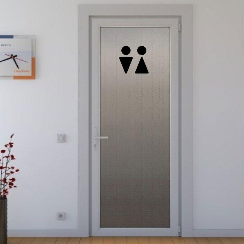 Samolepka na dveře WC siluety v Brně, samolepka na WC