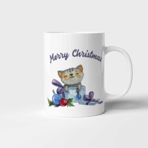 Vánoční hrnek Christmas Cat Merry Christmas