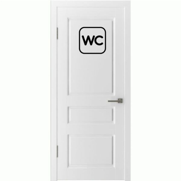 Samolepka na dveře WC Brno