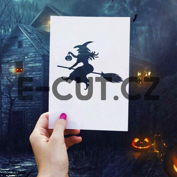 Originální samolepka Čarodějnice Halloween