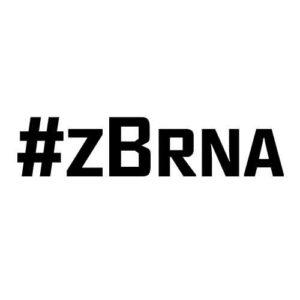 Originální samolepka #zBrna dle vašeho vlastního výběru.