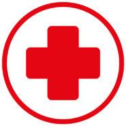 Samolepka Červený kříž na auto, zed', výlohu v Brně