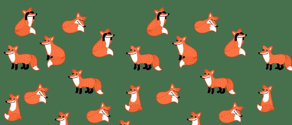 Bílý keramický hrnek Lišky