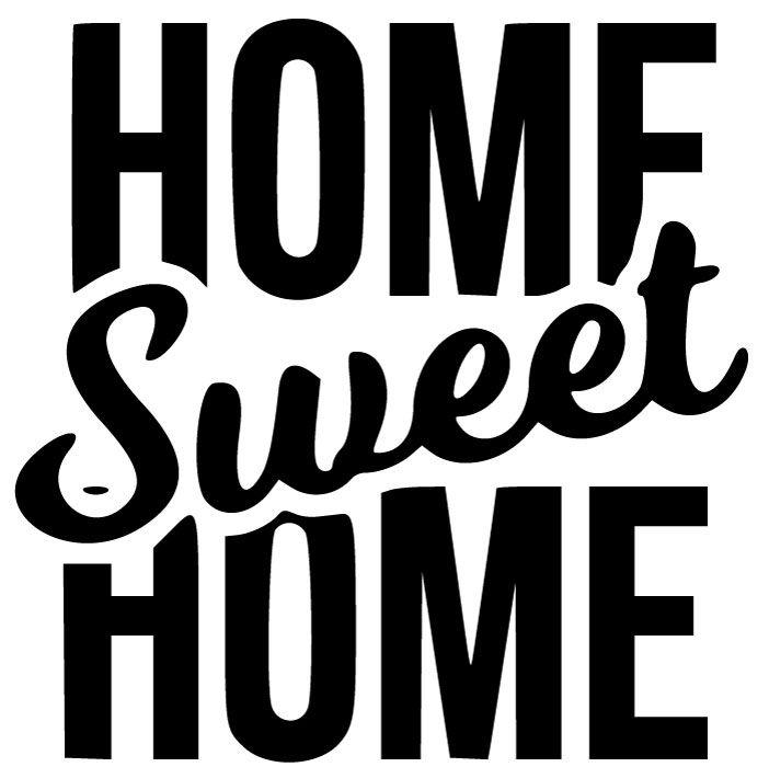 Dekorativní samolepka na zeď Home Sweet Home