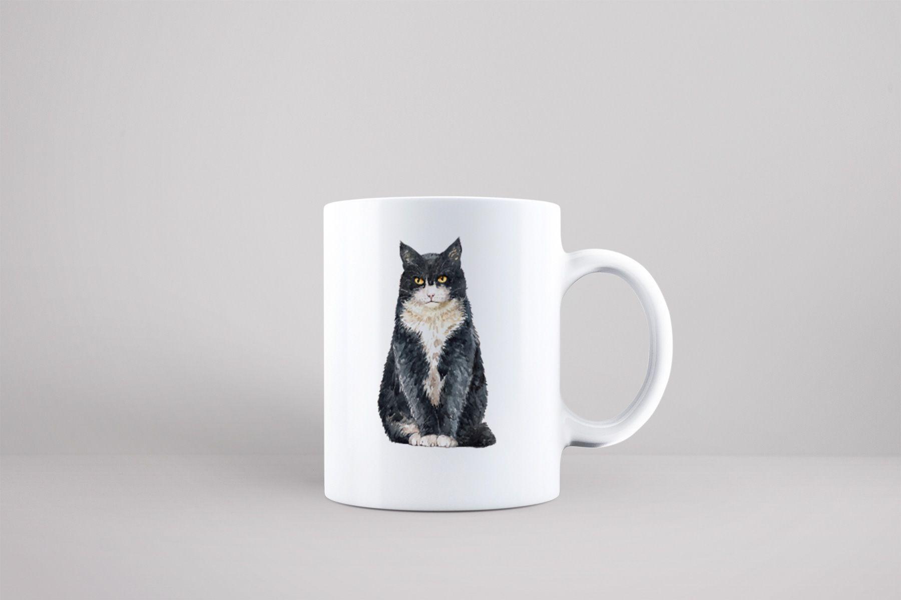 Bílý keramický hrnek s kočkou Kočka domácí v Brně