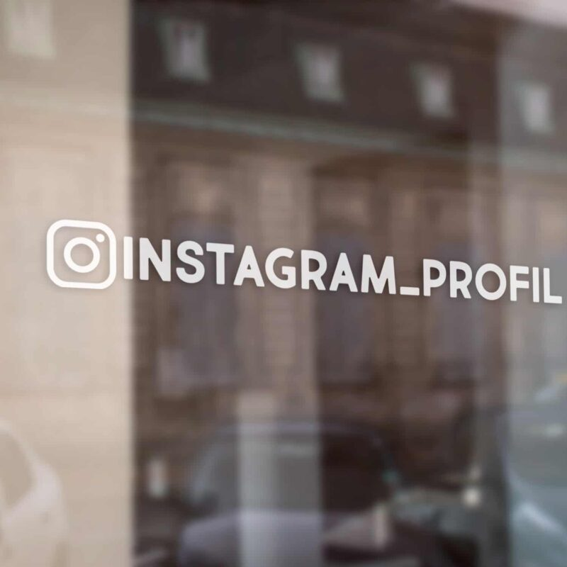 Samolepka Instagram - odkaz na profil