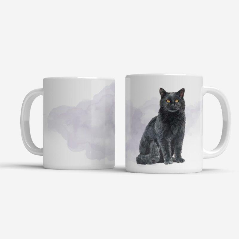 Hrnek s černou kočkou