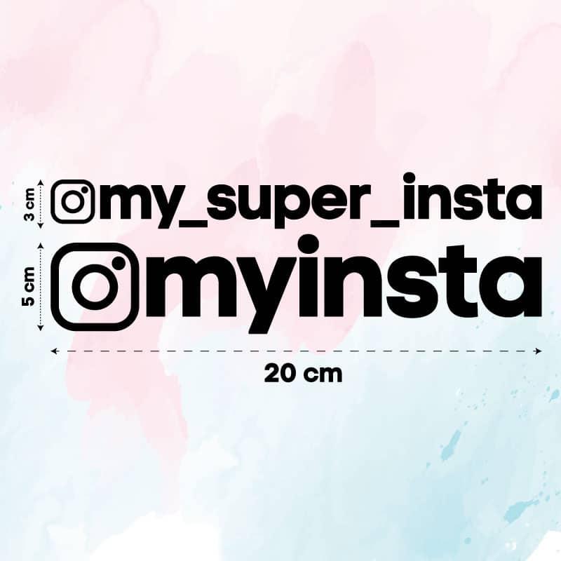 Samolepka Instagram