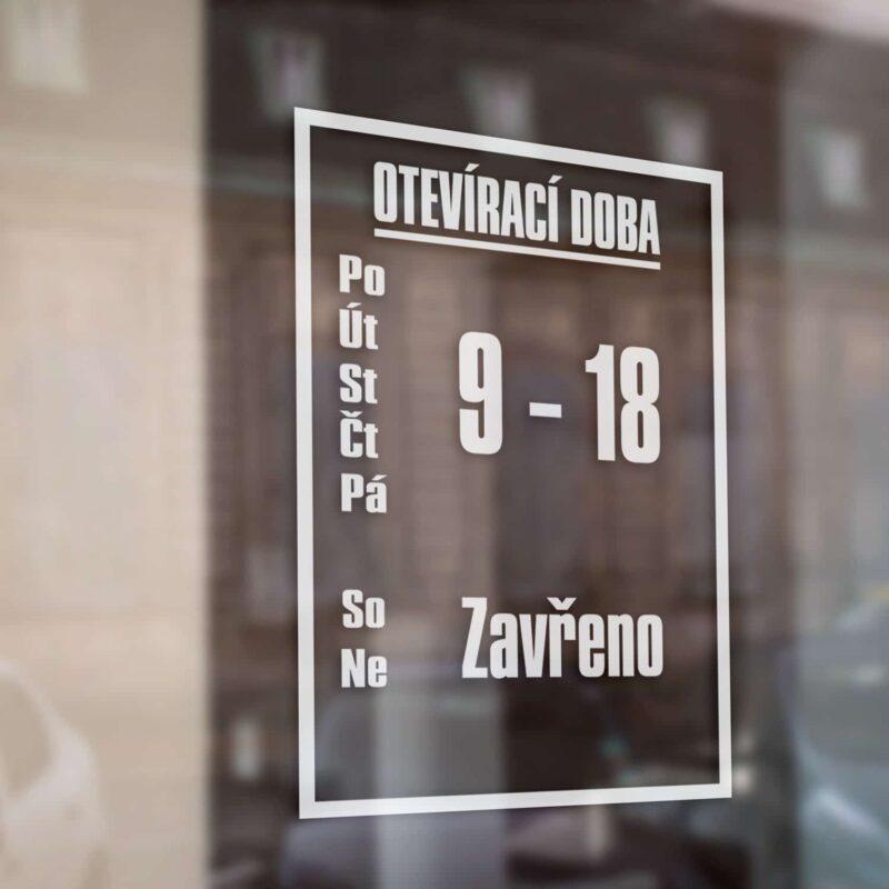 Otevírací doba obchodů, prodejny na výlohu