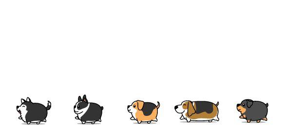 Bílý keramický hrnek Tlustí psi, varianta 1