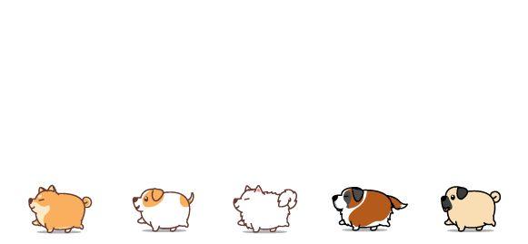 Bílý keramický hrnek Tlustí psi, varianta 2