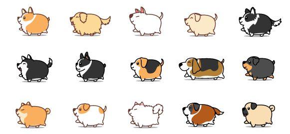 Bílý keramický hrnek Tlustí psi