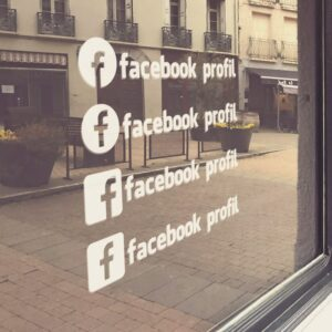 Samolepka Facebook profil