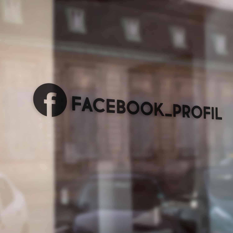 Samolepka Facebook